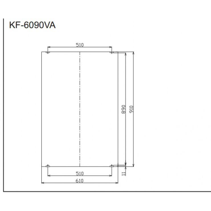 Bản vẽ kỹ thuật thanh gương phòng tắm INAX KF-6090VA