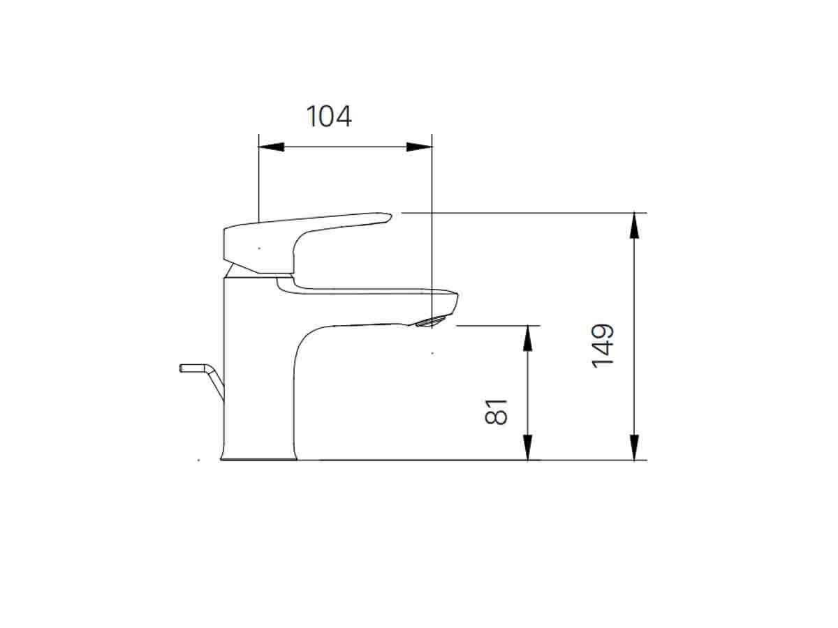 Bản vẽ kỹ thuật vòi chậu lavabo nóng lạnh INAX LFV-1402S